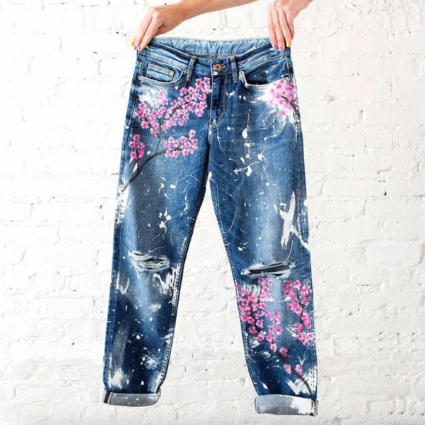 diy jeans on tiktok