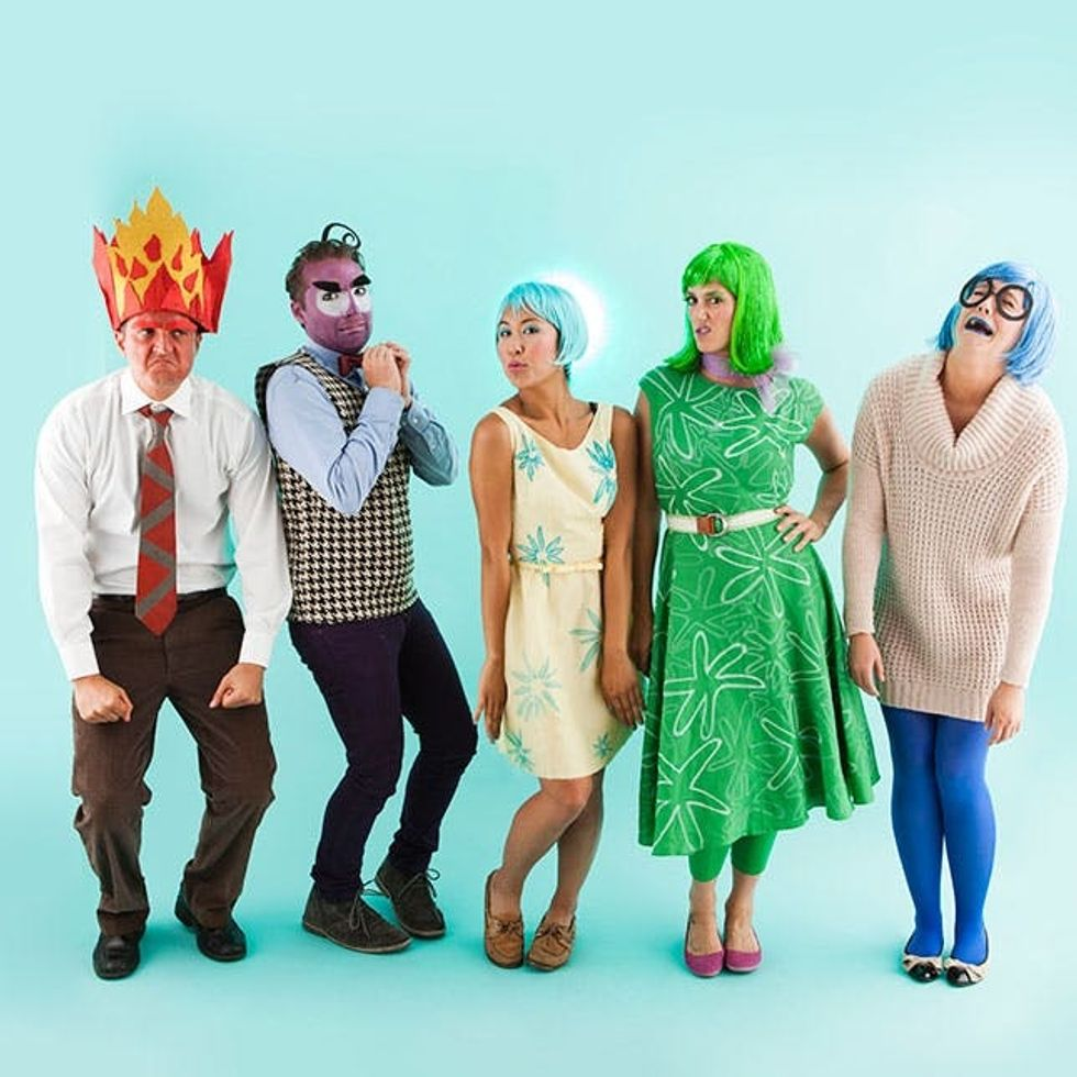 How To Make Inside Out Characters For An Epic Group Halloween Costume Brit Co