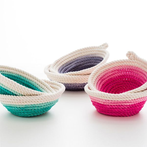 How to Make Beautiful No-Sew Rope Bowls