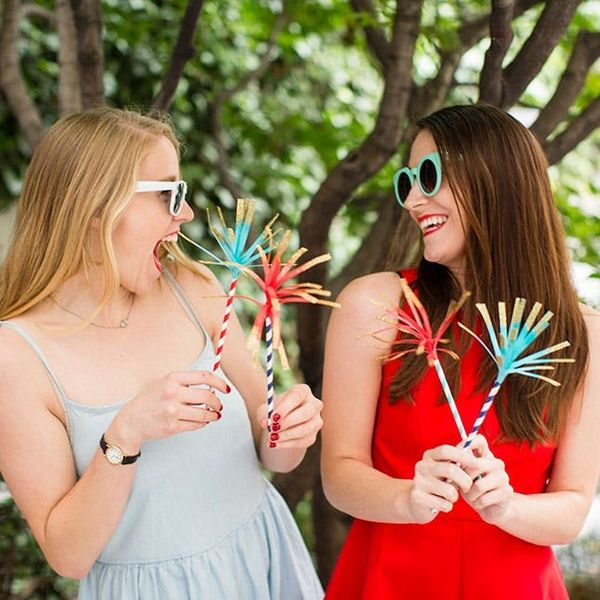 How to Make Fake Sparklers for July 4th