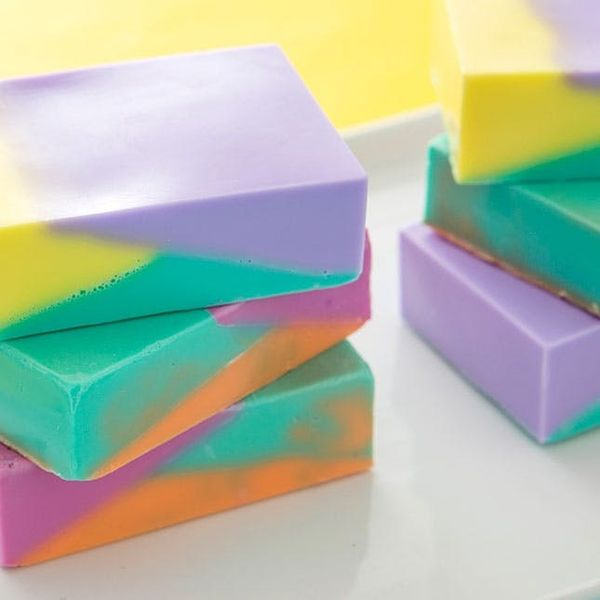 How to Make Modern Color Block Soap