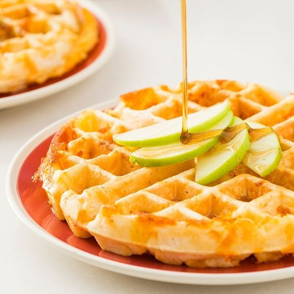 Start Your Day With Apple Cheddar Waffles