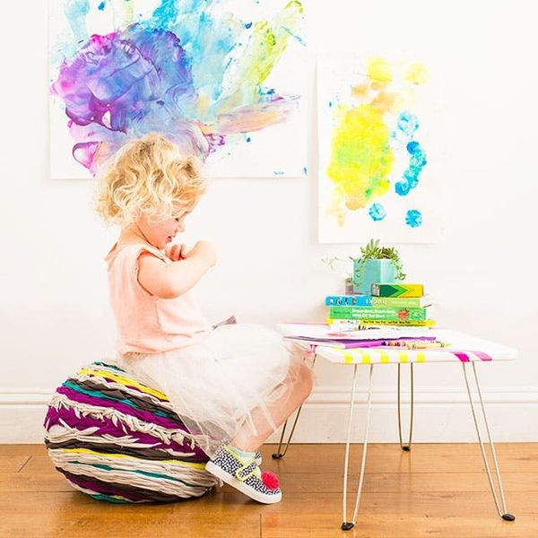 How to Make a Woven Floor Pouf for Your Little One