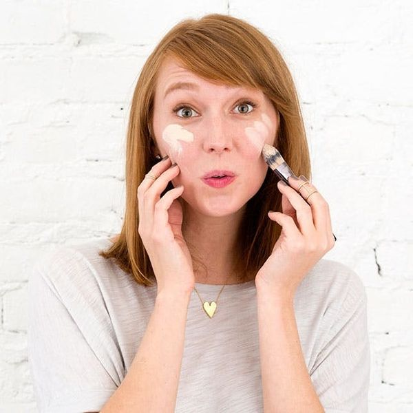 Beauty Mythbuster: Should You Apply Foundation With a Brush or Your Fingers?