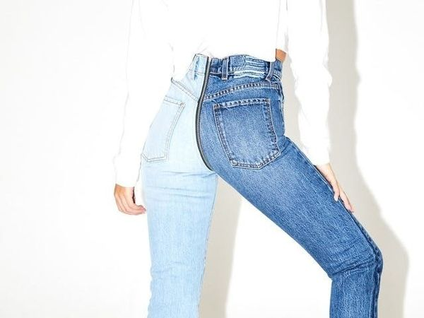 17 Color-Blocked Denim Styles You'll Def Want to Wear This Spring