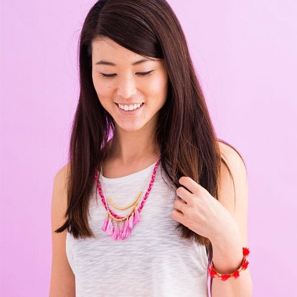 Use Your Old Friendship Bracelet-Making Skills for This New Necklace