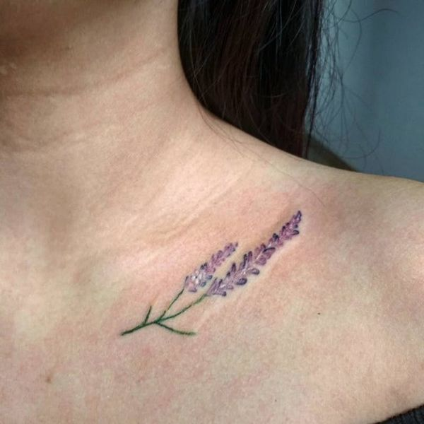 12 Dainty Collarbone Tattoos We Want to Copy Like, Yesterday