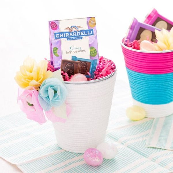 How to Turn a Bucket into a Colorful Easter Basket