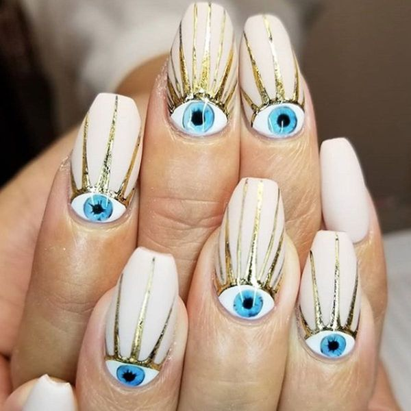 15 Evil Eye Manicures to Ward Off Bad Vibes