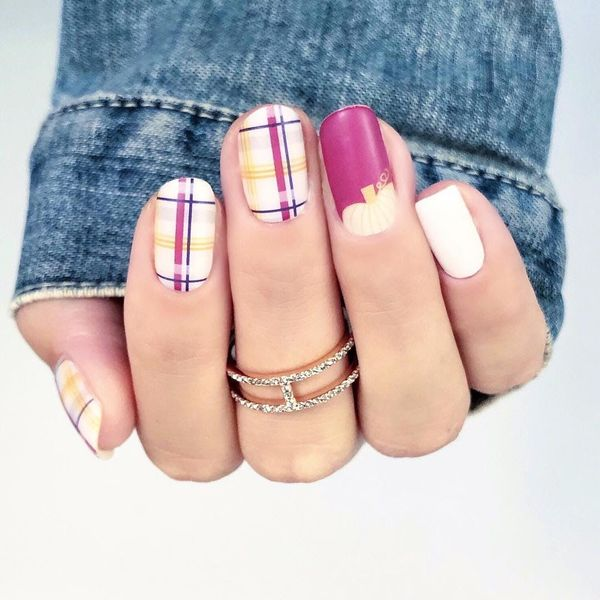 10 Winter-Appropriate Plaid Manicures You'll Love