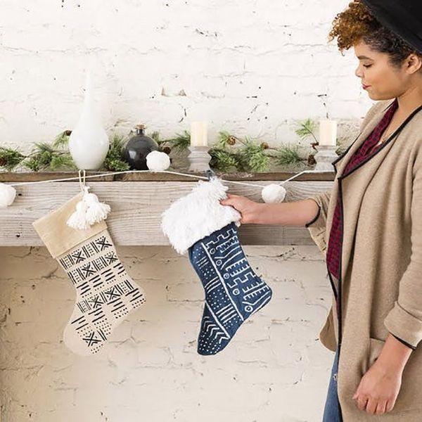 12 Unique Stocking DIYs to Up-Level Your Mantel