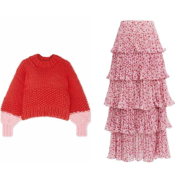 13 Oversized Sweater and Skirt Combos That Slay Winter Style