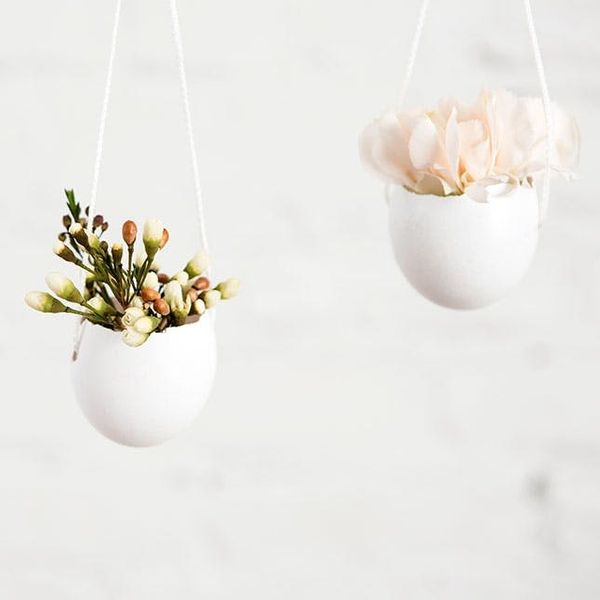 How to Turn Eggshells into Hanging Planters for Spring Flowers