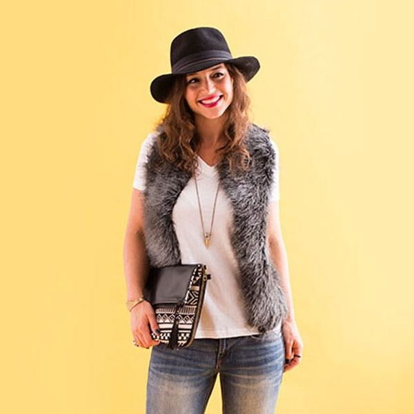 How to Make a Chic Faux Fur Vest + 4 Ways to Style It