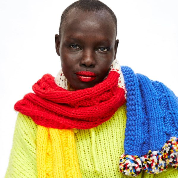 The Oversized Scarf Trend We All Want in On