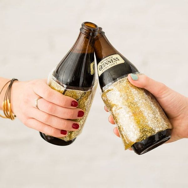 Make Your Beer Fancy With DIY Gold Cozy