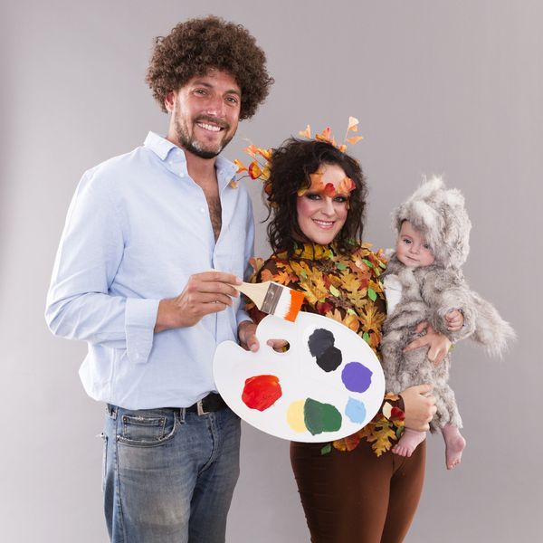 This Bob Ross Family Halloween Costume Will Bring You All the Joy