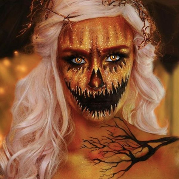 Pumpkin Face Makeup Is the Beauty Trend to Try This Halloween