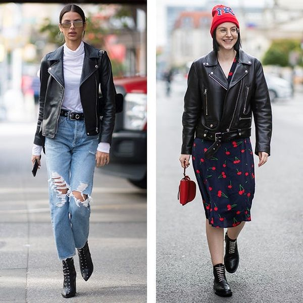 8 Fresh Ways to Wear the Moto Jacket You're Living in RN