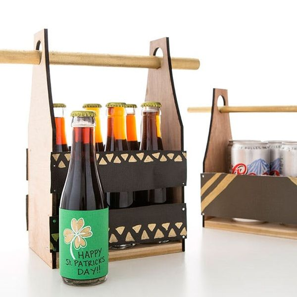 How to Make Beer Bottle Labels + a Reusable 6-Pack Case