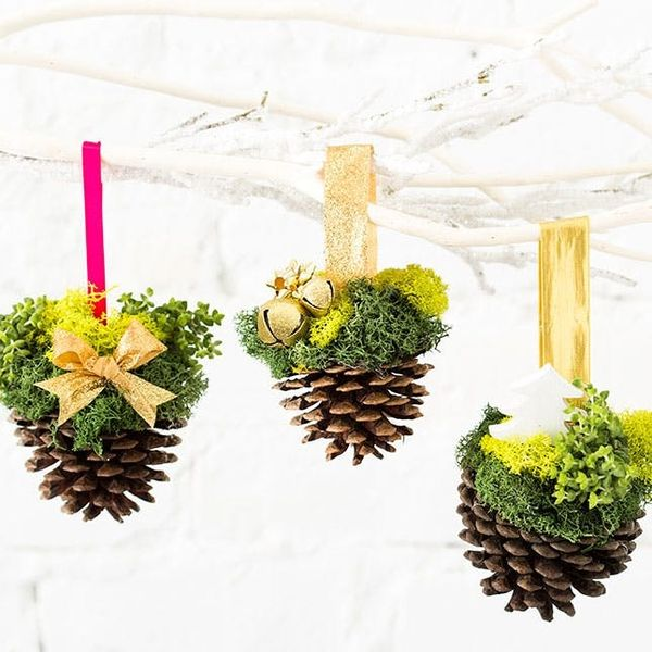 How to Turn Pinecones into Ornaments That Are Seriously Chic