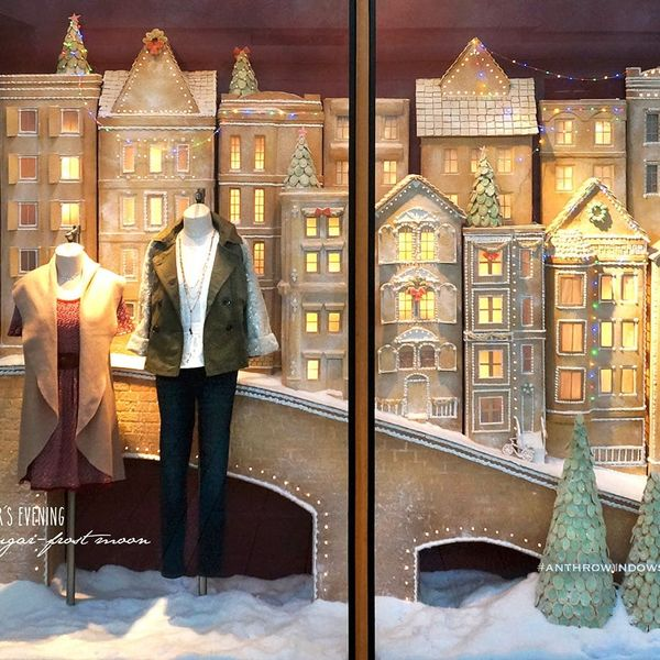Anthropologie's Holiday Window Display Is the Prettiest One We've Seen All Season