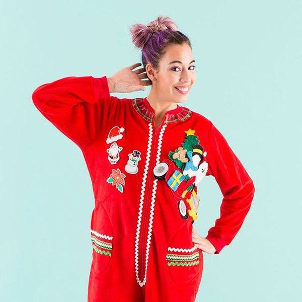 Get in on the Ugly Sweater Fun With an Adult Onesie