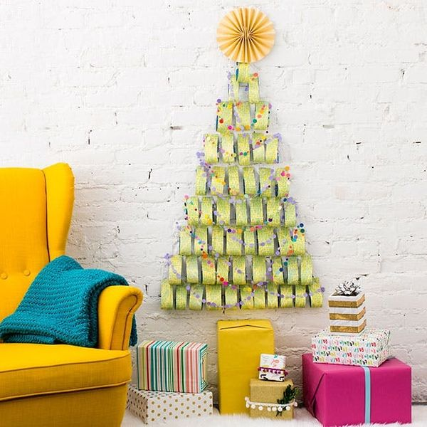 Create a Small Space Tree With This One Holiday Supply