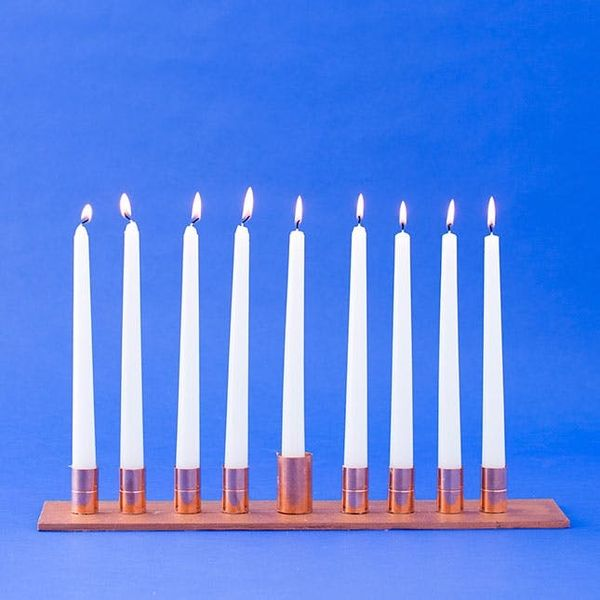 How to Make a Modern Copper Menorah