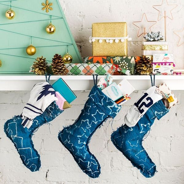 How to Make Batik Indigo Stockings for Your Mantel This Holiday