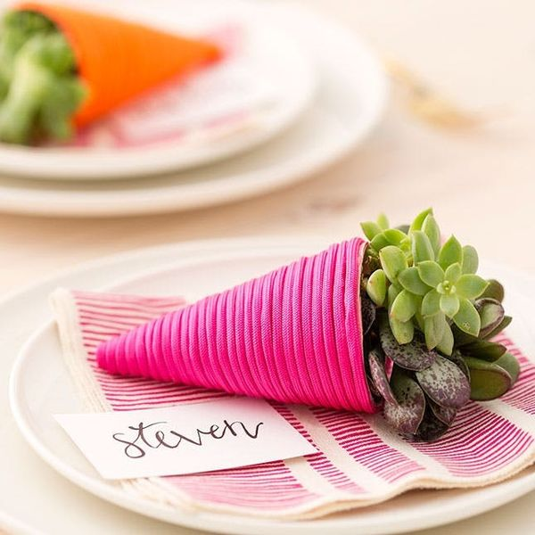 How to Make the CUTEST Mini Succulent Cornucopia Table Cards