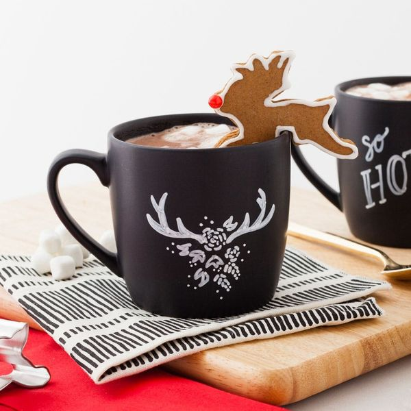 Make the Cutest Cup of Hot Cocoa You've Ever Had With This Holiday Reindeer Mug