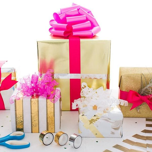 Bling Out Your Gifts With Metallic Wrapping Hacks