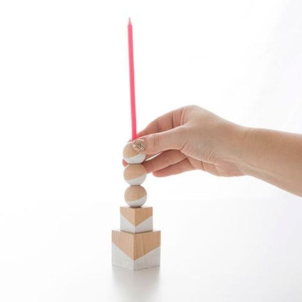 Trick Out Your Table with DIY Geometric Candle Holders