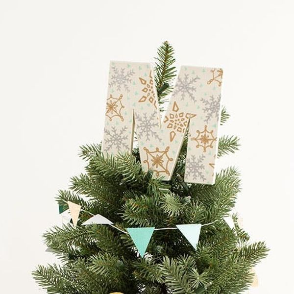 DIY Geo Garlands and Monogram Tree Toppers FTW!