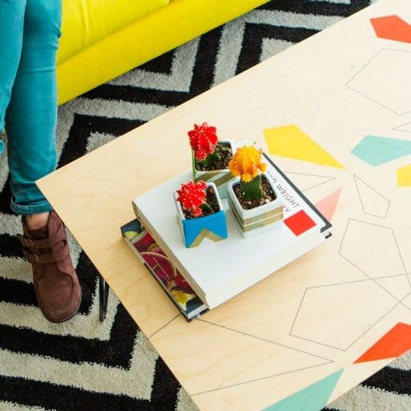 Make a Custom Patterned Coffee Table in Under 10 Minutes