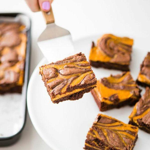 Fall Dessert Alert! Make this Ultimate Pumpkin Swirl Brownies Recipe