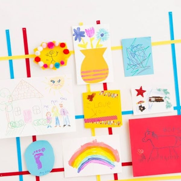Make a Gallery to Display Your Kids' Artwork (+ $350 Giveaway!)