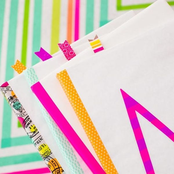 #TBT: Make Old School Book Covers With Colorful Tape!
