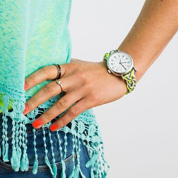 Summer Style Hack: Create a Neon Nautical Watch Strap