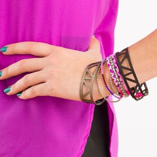 How to DIY Chic Laser Cut Leather Bangles