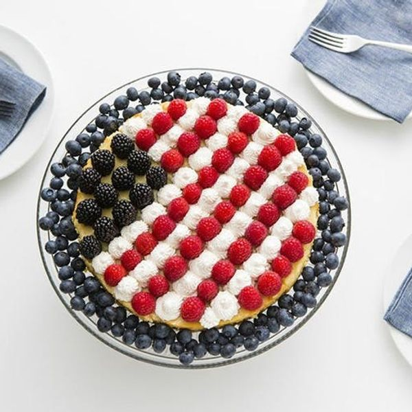 Celebrate the 4th With Our Star Spangled Lemon Cream Pie