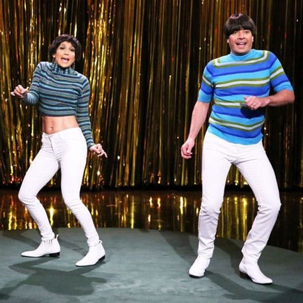 "Watch This: JLo Vs. Jimmy Fallon in the Battle of ""Tight Pants"""