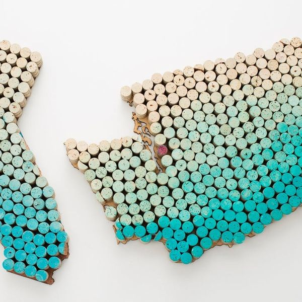 Upcycle Alert! Make State-Shaped Wall Art Using Old Wine Corks
