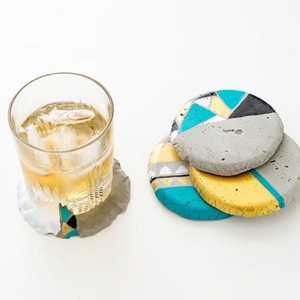 Set It + Forget It: Make Cement Coasters in Under 30 Minutes