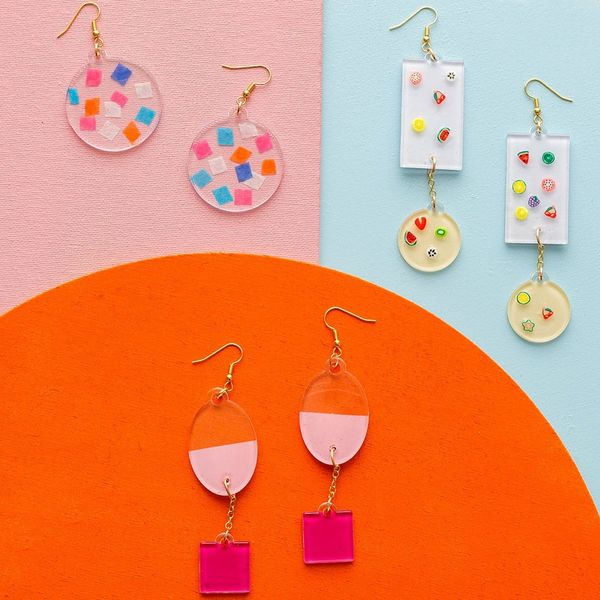 Make a Statement in These DIY Acrylic Earrings
