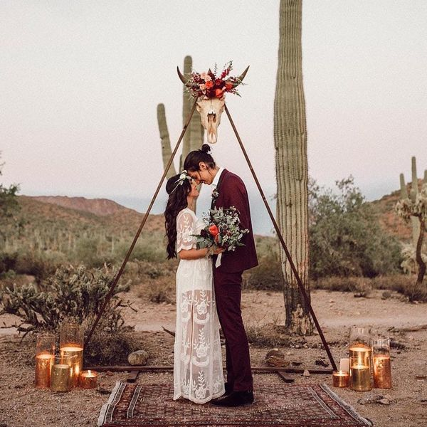 Triangle Ceremony Arches Take Your Modern Bohemian Wedding to New Heights