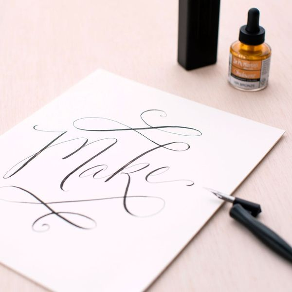 How to Make Calligraphy Wall Art + More Hand-Drawn Awesomeness