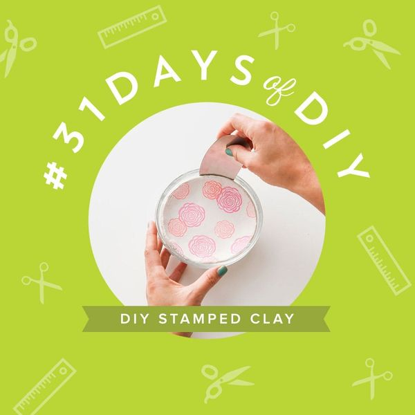 Make Your Own Clay Desk Accessories With Rubber Stamps