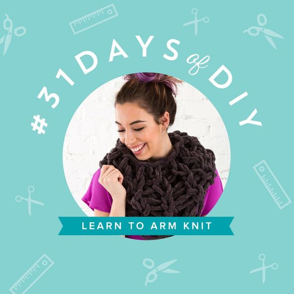 Use Your Arms to Knit This Cozy Circle Scarf in Under 30 Minutes